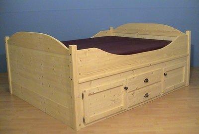 2 p.bed ONDERBOUW aan 2 kanten kastjes