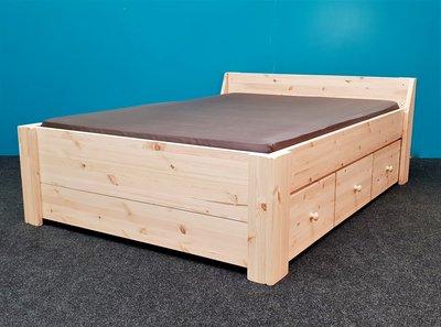 bed Jacqueline XXL 3 laden houtknap