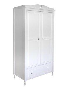 2-deurskast EMMA met HARTJE wit