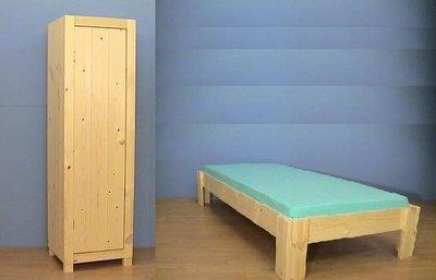 1-persoonsbed BAS met 1-deurskast Ameland