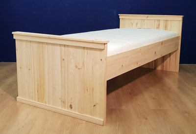 1-p.bed COUNTRY-hoog 80x180 t/m 100x220