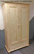 2-deurskast met OVERSTEEK 120cm breed kies uit 3 deuren